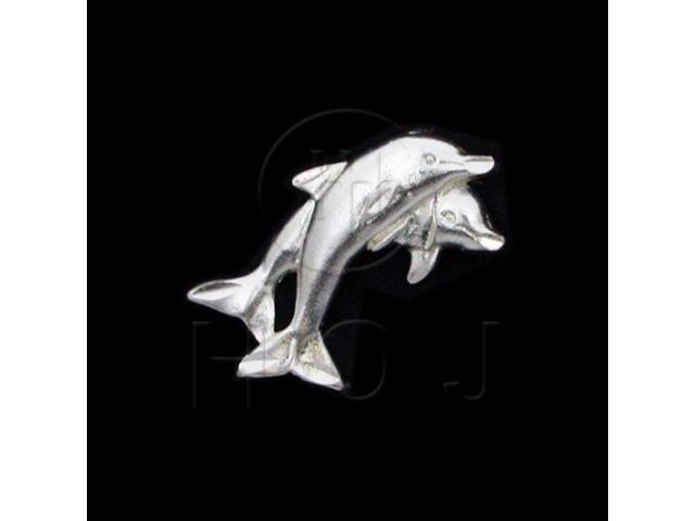 Sterling Silver DiamondCut Nautical Animal Charm Dolphin