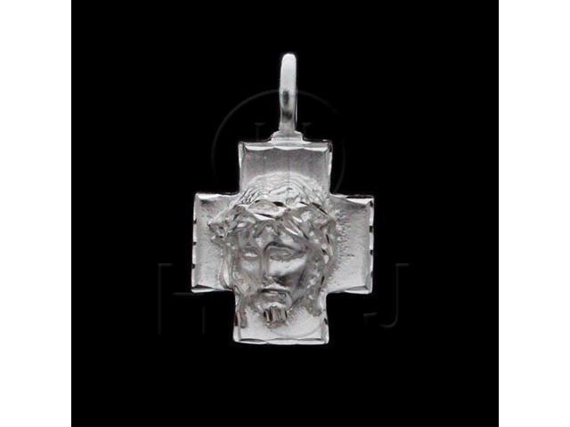 Sterling Silver DiamondCut Religious Charm Jesus