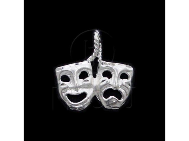 Sterling Silver DiamondCut Assorted Charm Masks
