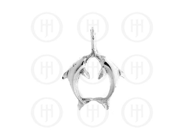 Sterling Silver DiamondCut Nautical Animal Charm Dolphin
