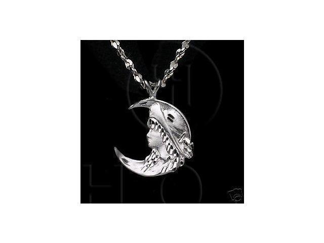 Sterling Silver DiamondCut Assorted Charm Moon Girl