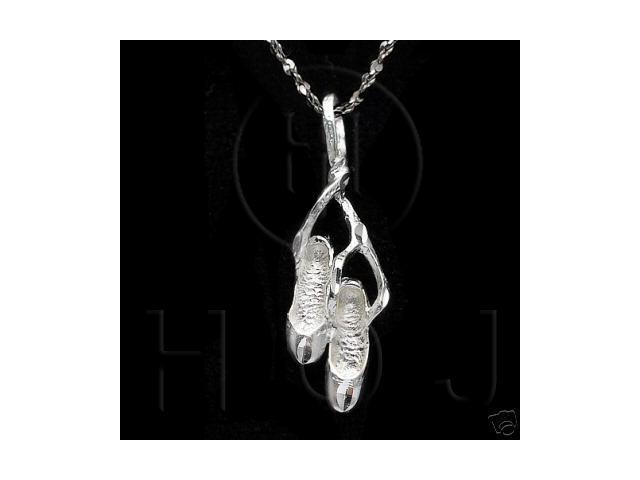 Sterling Silver DiamondCut Sports Charm Ballet