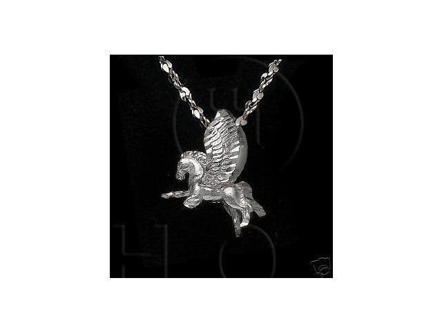 Sterling Silver DiamondCut Assorted Charm Pegasus