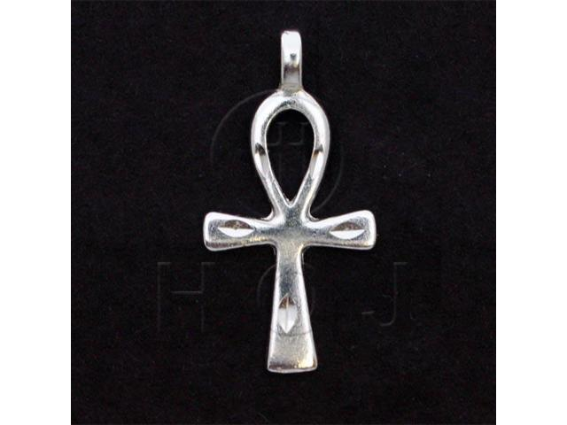 Sterling Silver DiamondCut Religious Charm Cross Ankh
