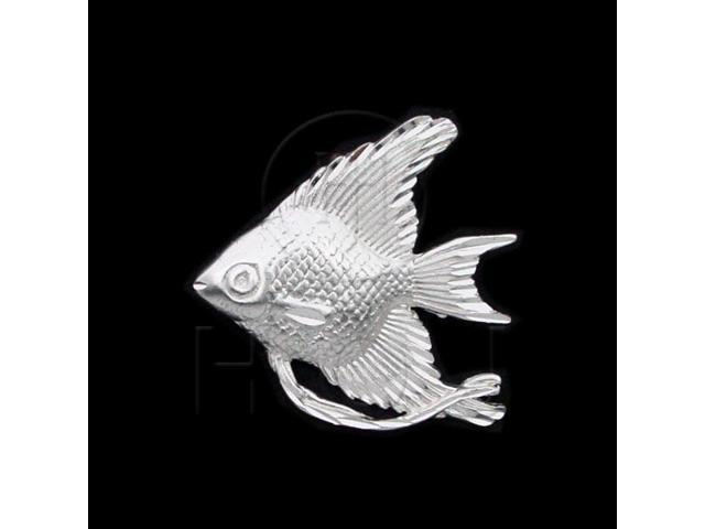Sterling Silver DiamondCut Nautical Animal Charm Goldfish