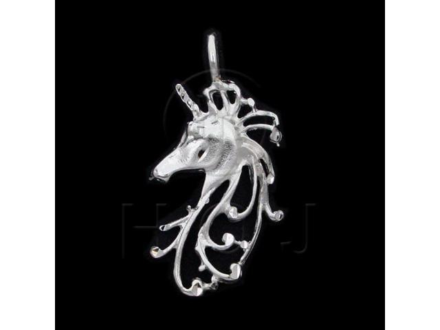 Sterling Silver DiamondCut Assorted Charm Unicorn