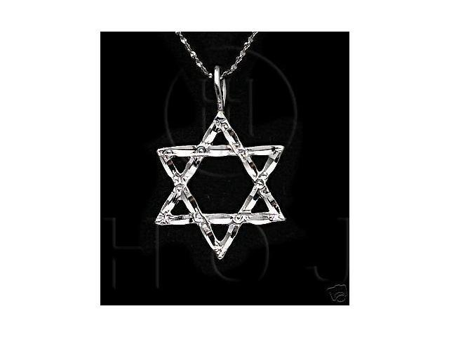 Sterling Silver DiamondCut Religious Charm Star of David