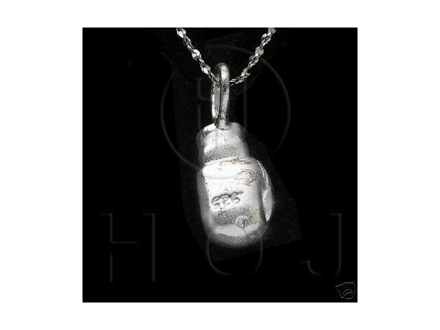 Sterling Silver DiamondCut Sports Charm Boxing Glove