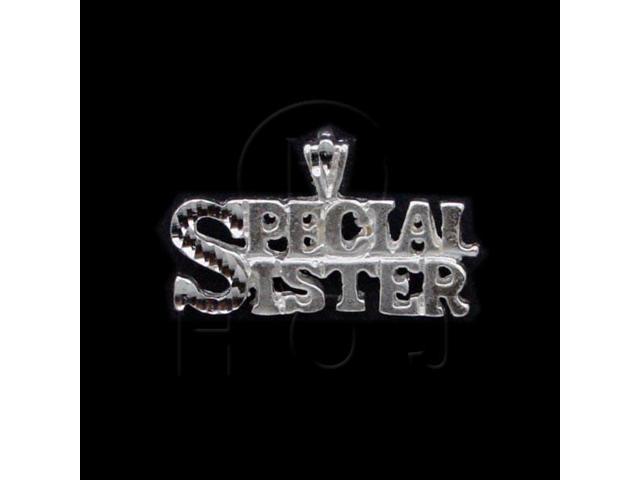 Sterling Silver DiamondCut Talking Charm Special Sister