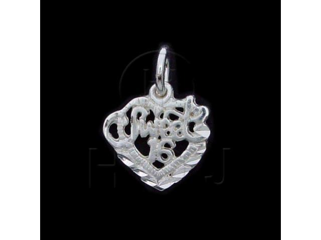 Sterling Silver DiamondCut Talking Charm Sweet 16