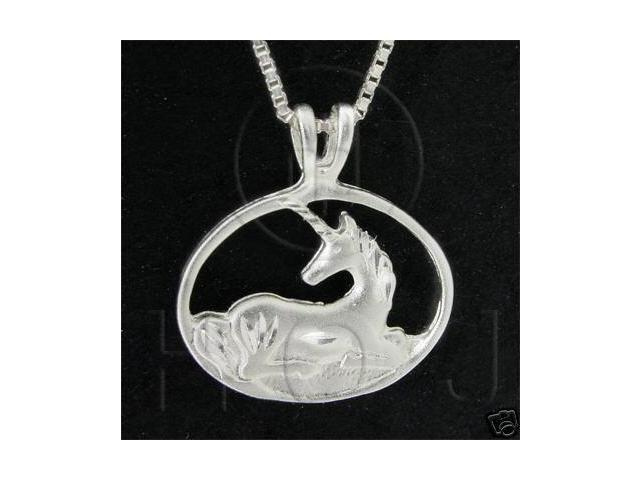 Sterling Silver DiamondCut Assorted Charm Unicorn