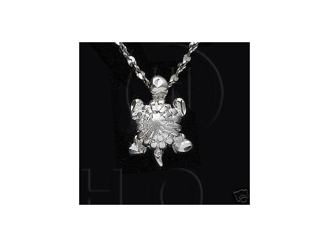 Sterling Silver DiamondCut Nautical Animal Charm Turtle