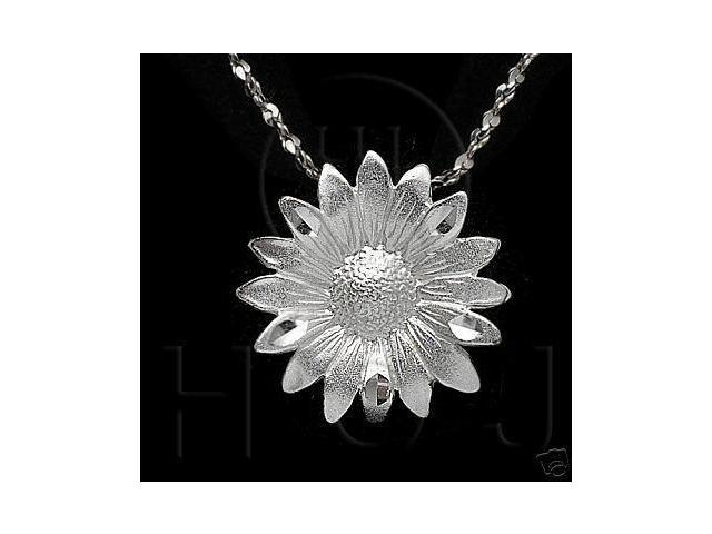 Sterling Silver DiamondCut Flower Charm