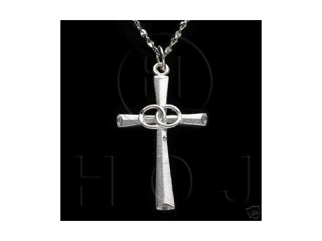 Sterling Silver DiamondCut Religious Charm Cross