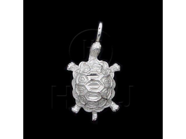 Sterling Silver DiamondCut Nautical Animal Charm Turtle