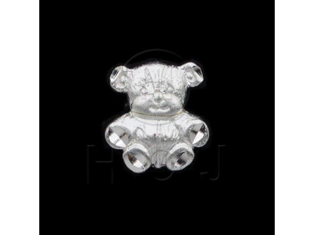 Sterling Silver DiamondCut Animal Charm Bear
