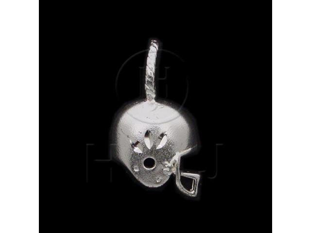 Sterling Silver DiamondCut Sports Charm Football