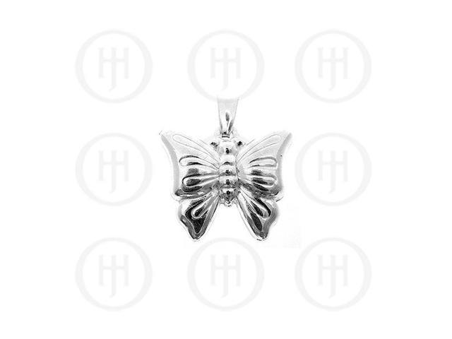 Sterling Silver Plain Charm Butterfly (