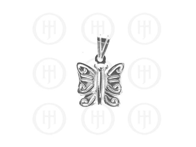 Sterling Silver Plain Charm Butterfly