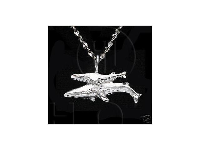 Sterling Silver DiamondCut Nautical Animal Charm Whale
