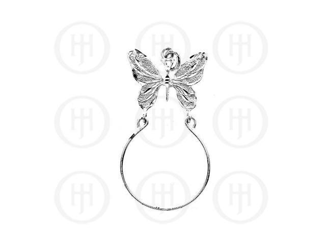 Sterling Silver DiamondCut Animal Charm Butterfly