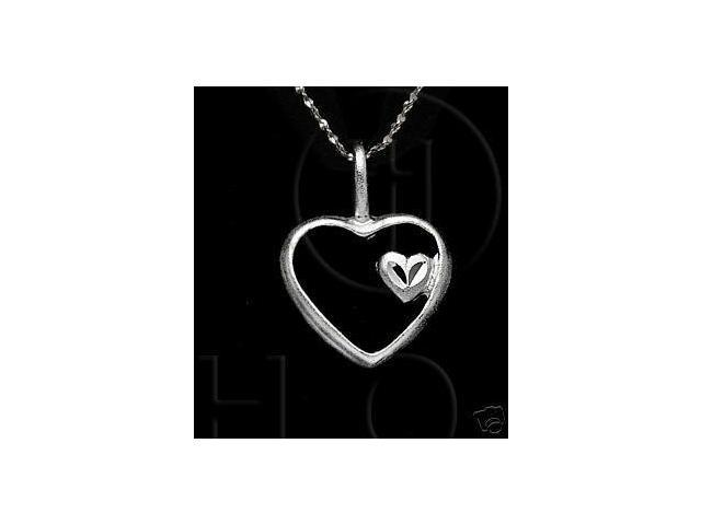 Sterling Silver DiamondCut Heart Charm