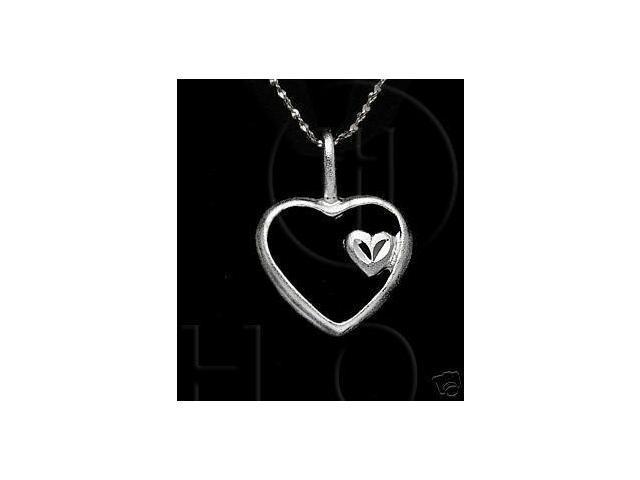 Sterling Silver DiamondCut Heart Charm