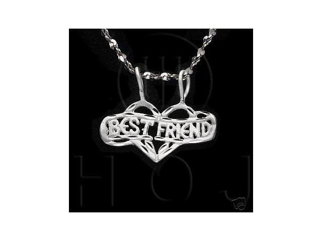 Sterling Silver DiamondCut Heart Talking Charm Best Friends
