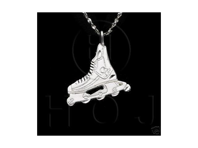 Sterling Silver DiamondCut Sports Charm Rollerblade