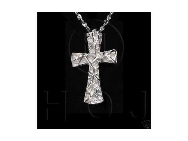 Sterling Silver DiamondCut Religious Charm Cross
