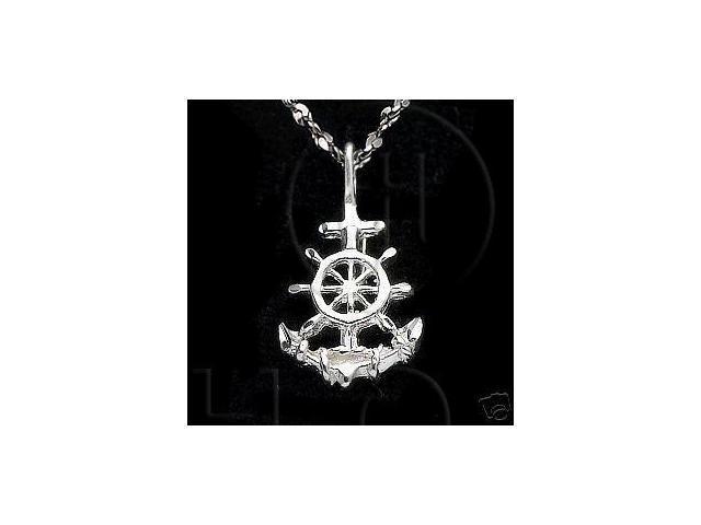 Sterling Silver DiamondCut Nautical Charm Anchor