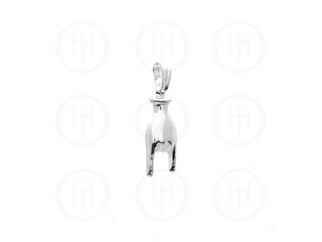 Sterling Silver Plain Charm Rocking Hand