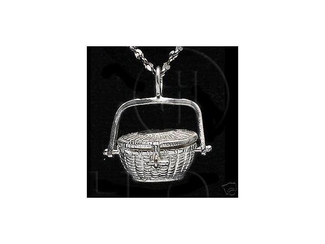 Sterling Silver DiamondCut Nautical Charm Basket