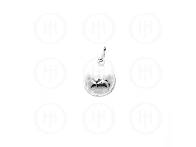 Sterling Silver Plain Charm Soccer Ball