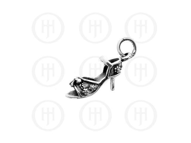 Sterling Silver Plain High Heel Charm