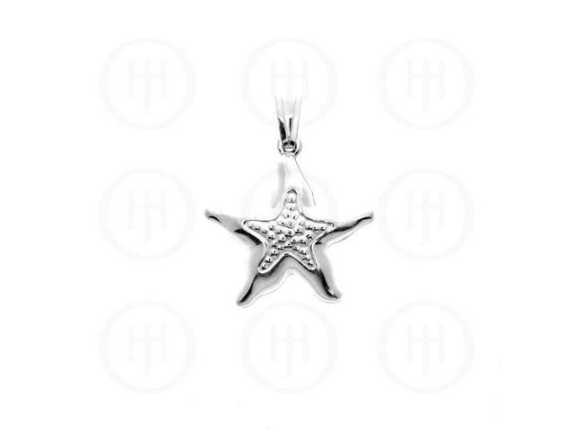 Sterling Silver Plain Puffed Charm Starfish