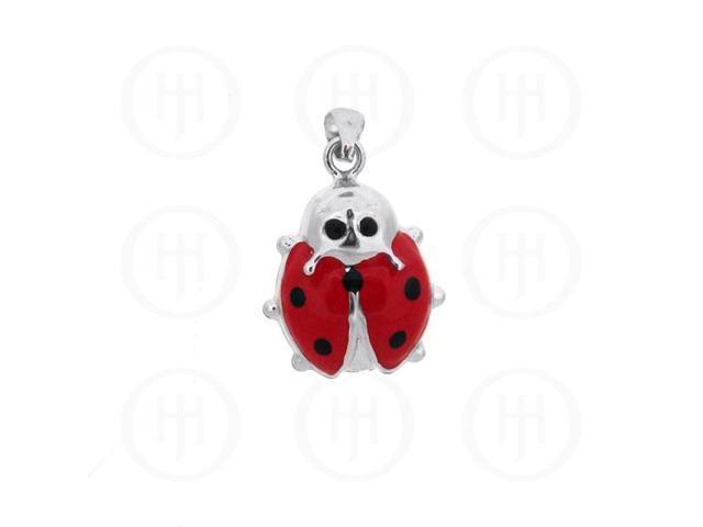 Sterling Silver Enamel Charm Large Ladybug
