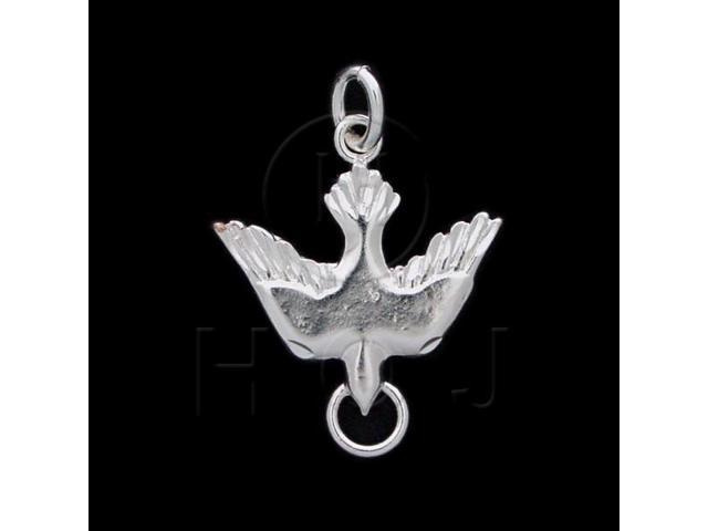 Sterling Silver DiamondCut Animal Charm Dove
