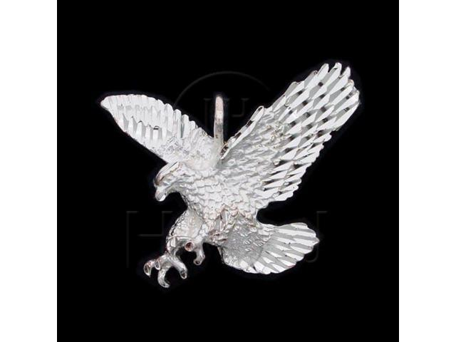 Sterling Silver DiamondCut Animal Charm Eagle