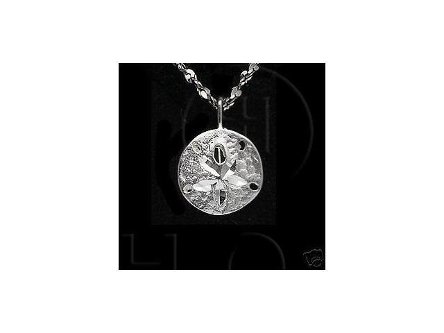 Sterling Silver DiamondCut Nautical Charm Sand Dollar