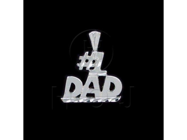Sterling Silver DiamondCut Talking Charm #1 Dad