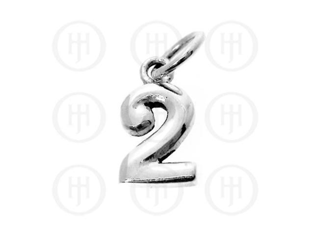 Sterling Silver Alphabet-Number 2 Charm