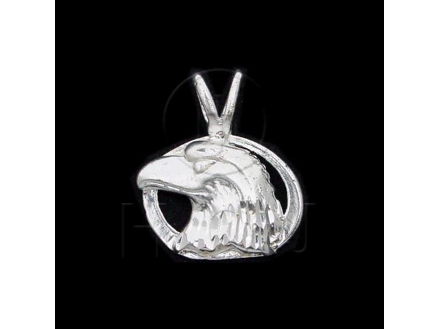 Sterling Silver DiamondCut Animal Charm Eagle