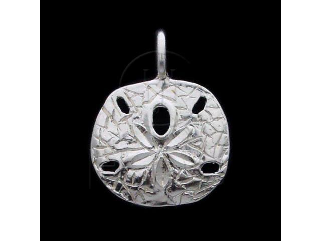 Sterling Silver DiamondCut Nautical Charm Sand Dollar