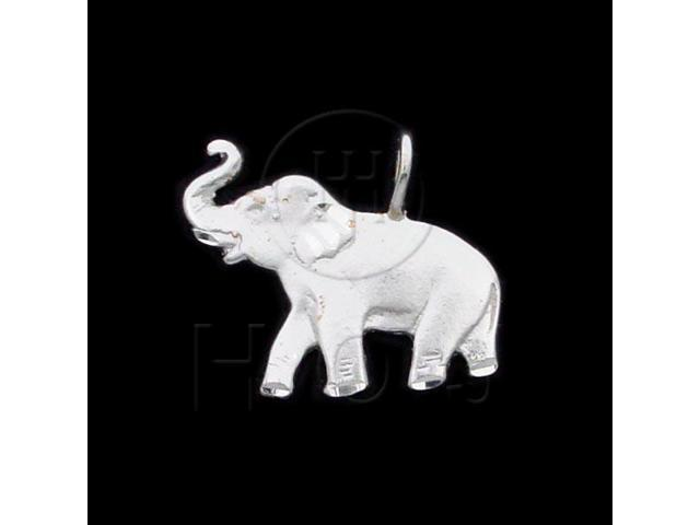 Sterling Silver DiamondCut Animal Charm Elephant