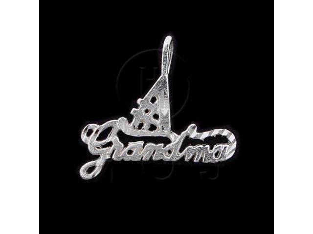 Sterling Silver DiamondCut Talking Charm #1 Grandma (Mom)