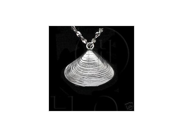 Sterling Silver DiamondCut Nautical Charm Sea Shell