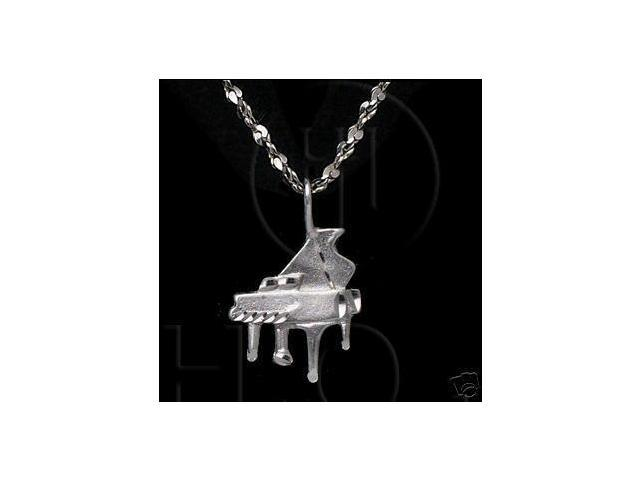 Sterling Silver DiamondCut Musical Charm Piano