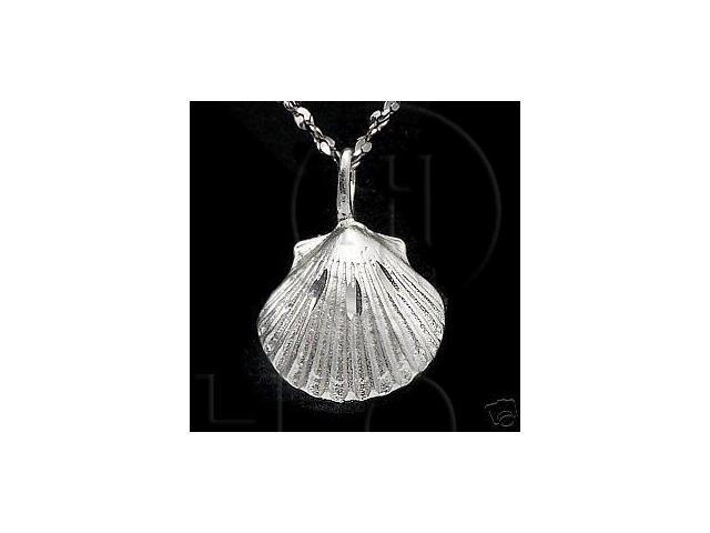 Sterling Silver DiamondCut Nautical Charm Sea Shell