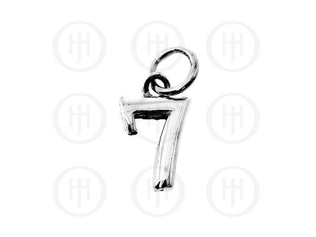 Sterling Silver Alphabet-Number 7 Charm